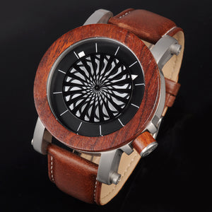 BOBO BIRD Mechanical Watch Red Wooden