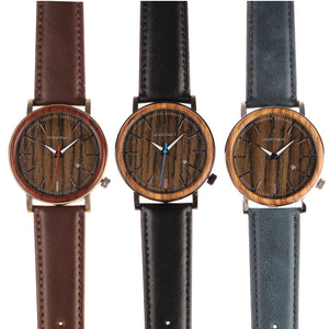 BOBO BIRD Wooden Metal Watch With Date