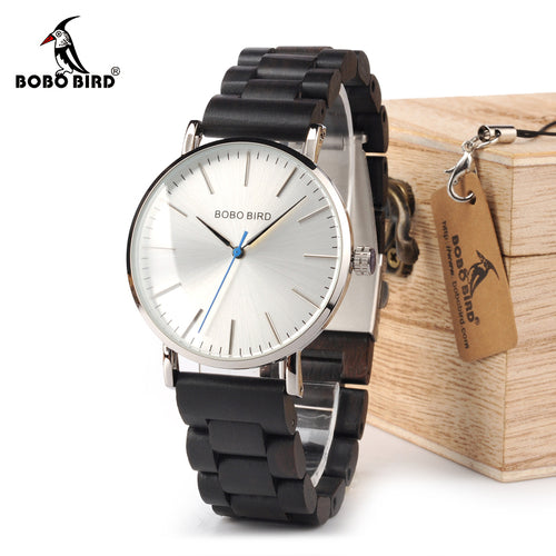 BOBO BIRD Wood Watch Ebony RedWood Band