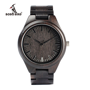 BOBO BIRD Classic Ebony Wooden Watch