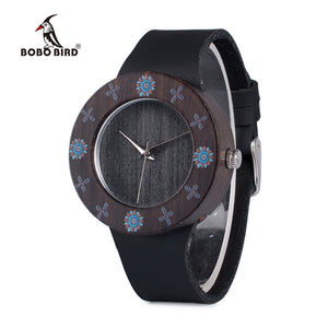 BOBO BIRD Ebony Vintage Wooden Watch