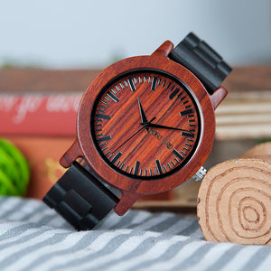 BOBO BIRD Red Sandalwood Case Dial Ebony