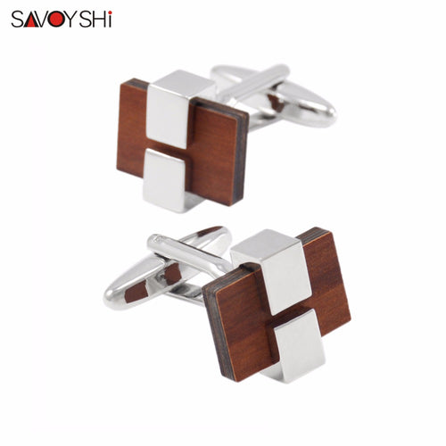 Low-key Luxury Wooden Cufflinks
