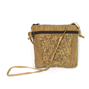 Natural cork body cross wood gain Bags