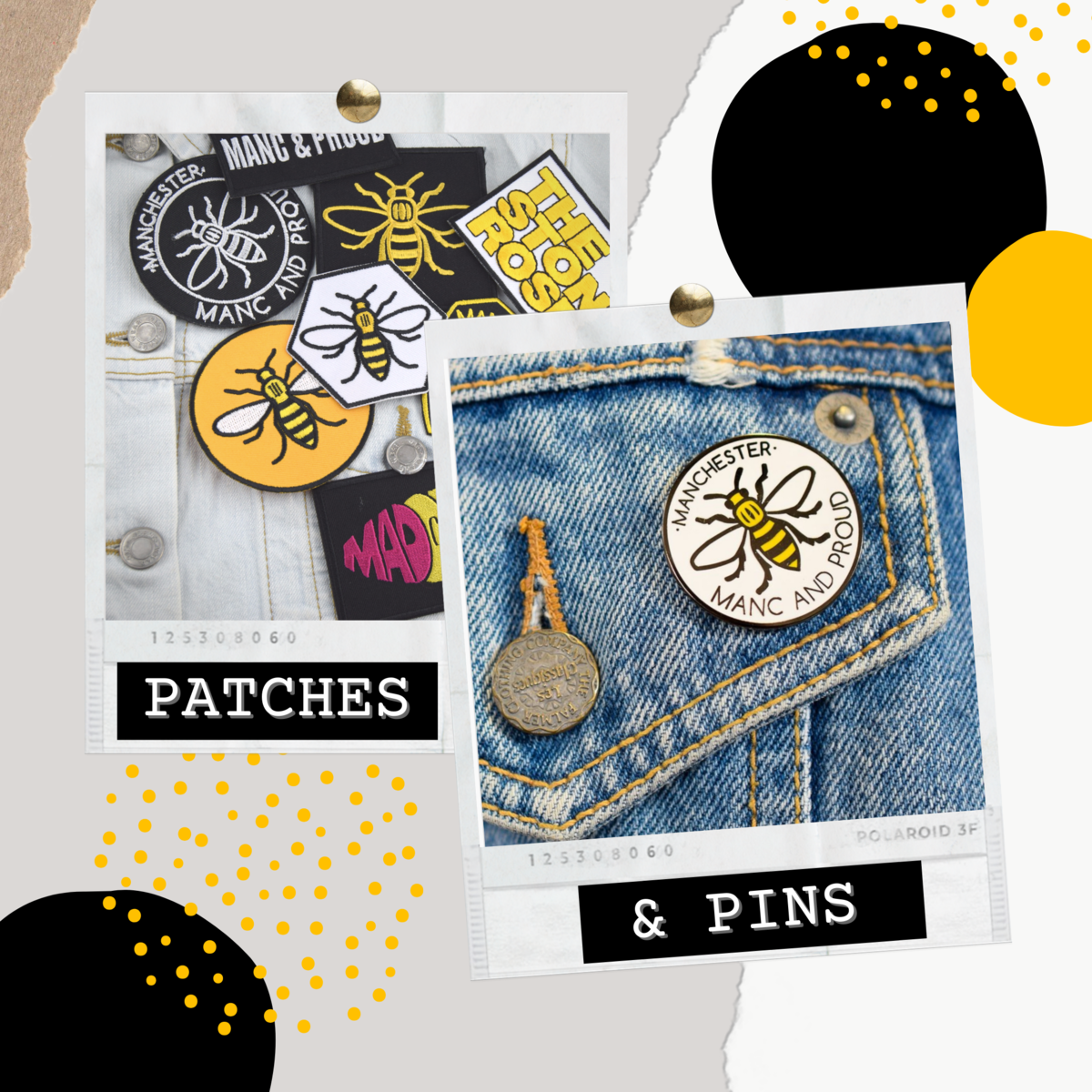 Get Creative with Patches & Pins - The Manchester Shop