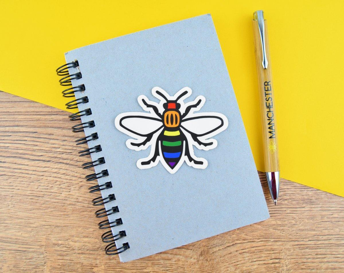 Manchester Bee Stickers - The Manchester Shop