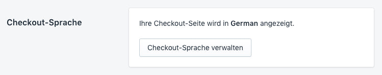 Checkout-Sprache für Shopify