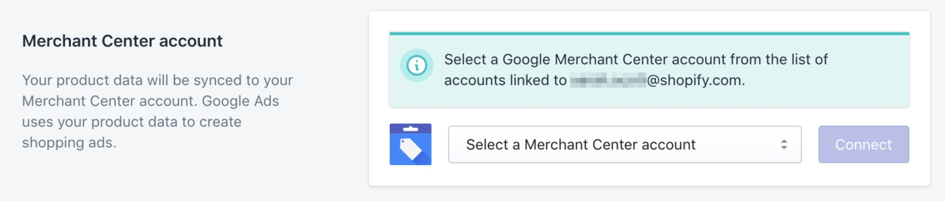 使用 Google Merchant Center 帐户的 Google Shopping 应用