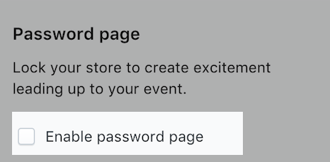 Screenshot of the Lock Online store section of the Create event page.