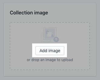 Collection image section on desktop