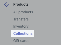 Collections button on desktop