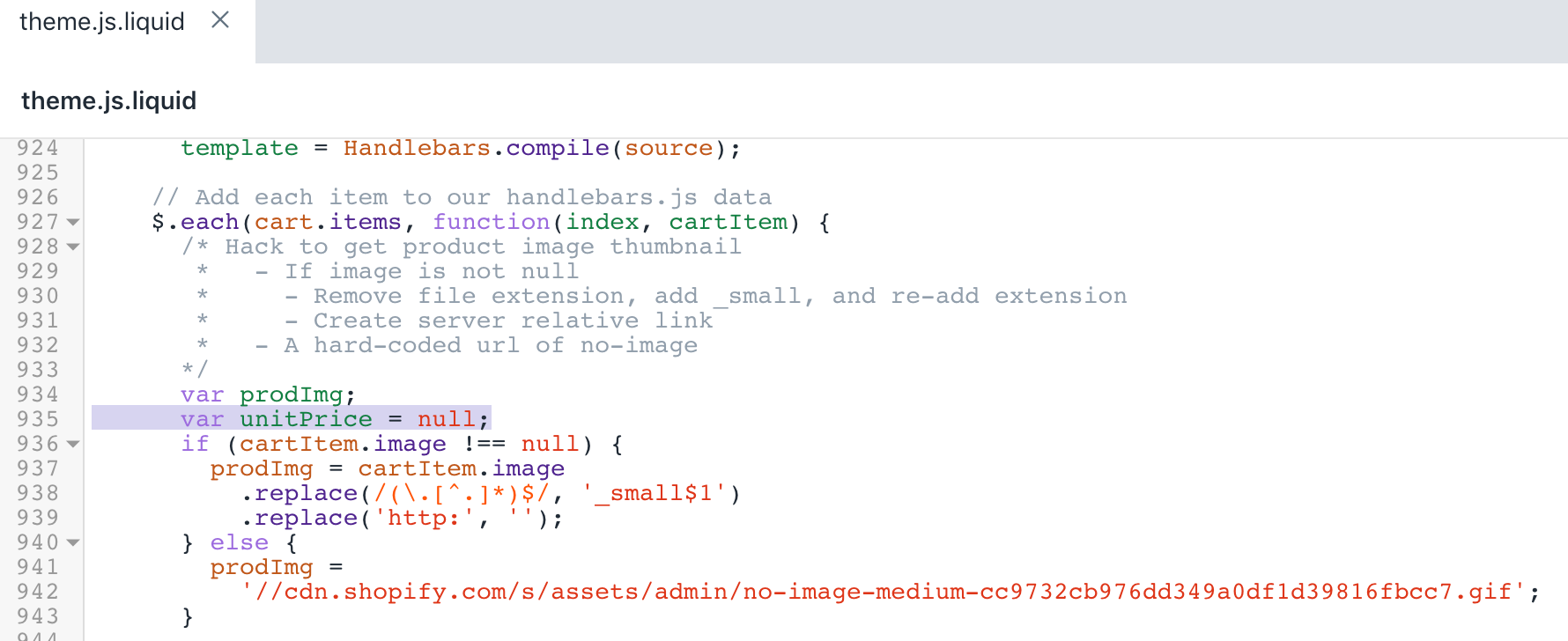 The updated version of the theme.js.liquid file