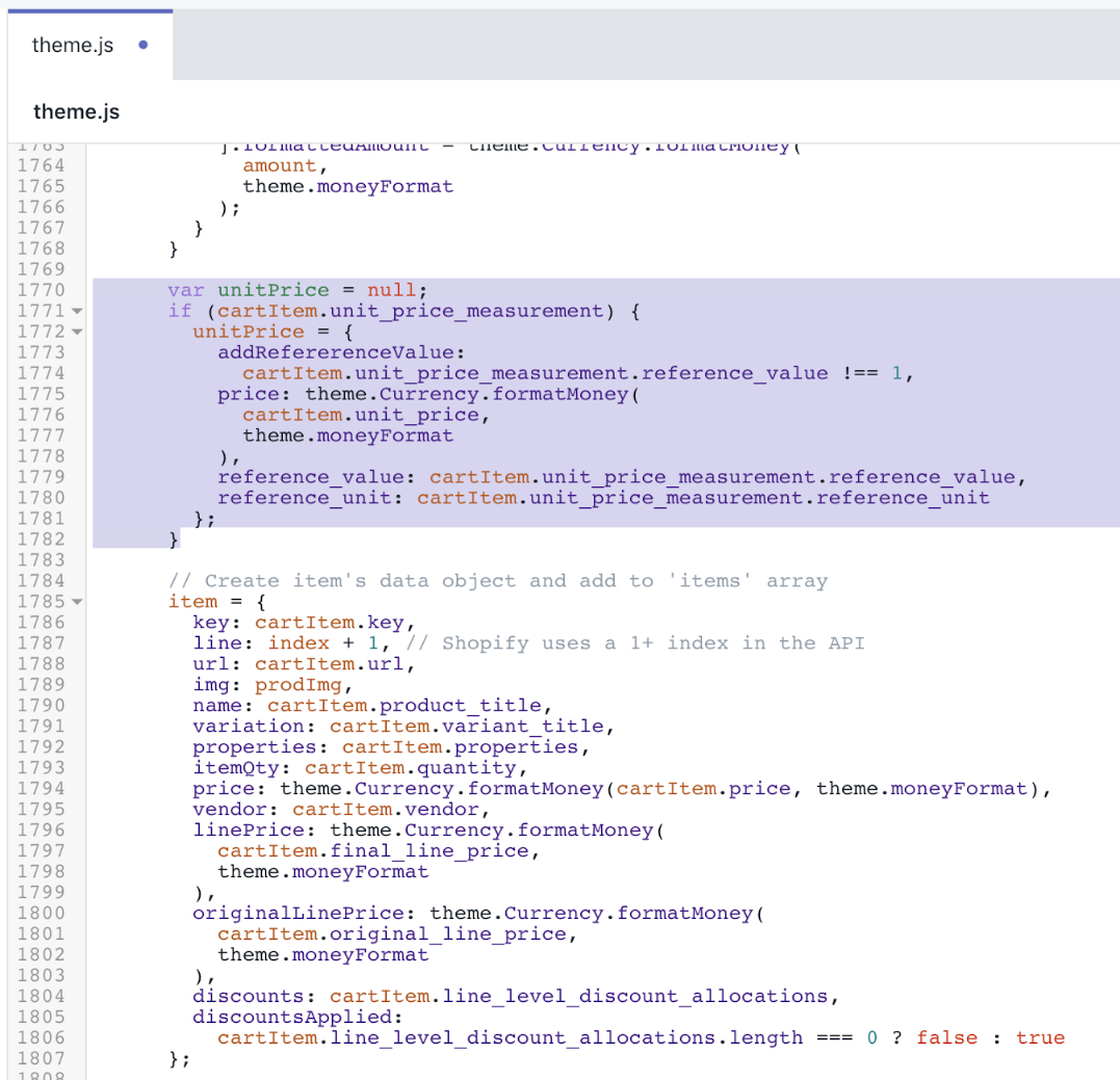 Updatd version of theme.js file