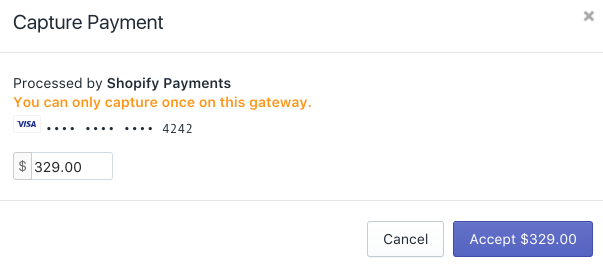 Shopify - capture payment edit