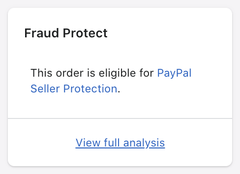 การ์ด PayPal Seller Protection
