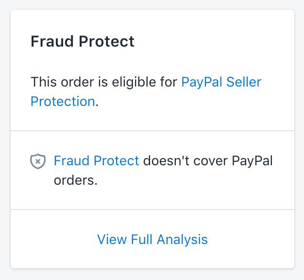 PayPal Seller Protection-kort