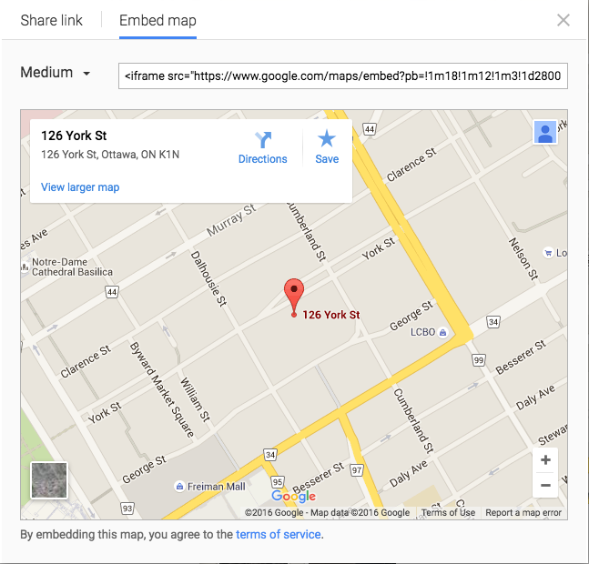 Shopify - embed google maps into page