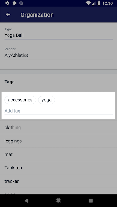 Add tags - Shopify for Android