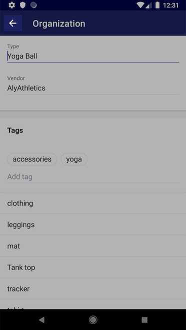Back button - Shopify for Android