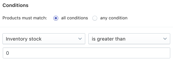 Setting collection conditions