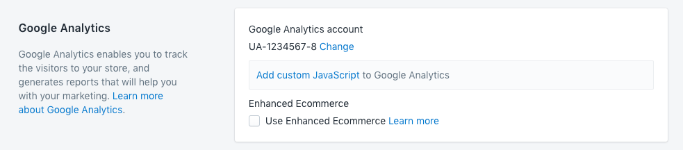 Google Analytics is enabled