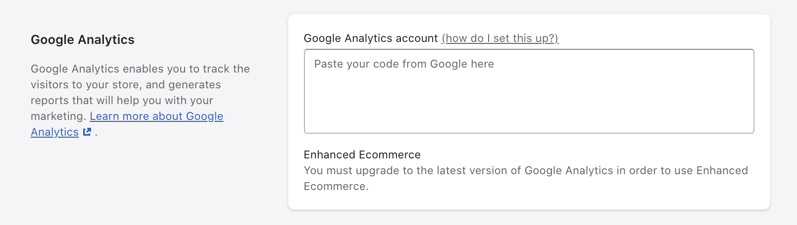 Plak Google Analytics-code hier