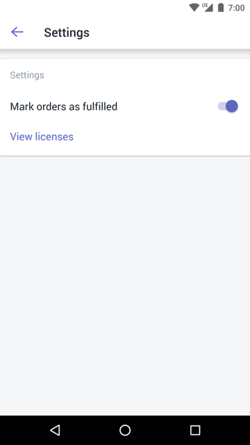 Mark orders as fulfilled option — Shopify POS for Android