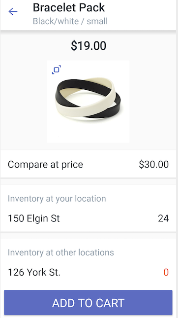 Product details dialog — Shopify POS for Android