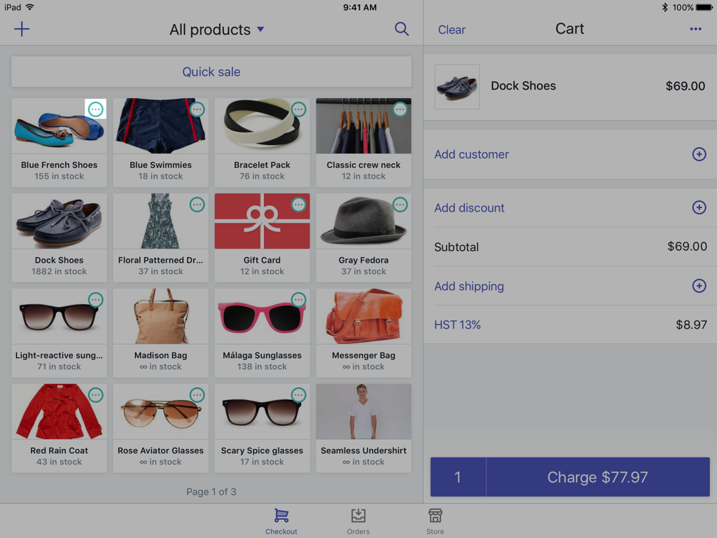Variants icon on a product — Shopify POS for iPad