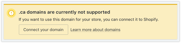 Unsupported domain