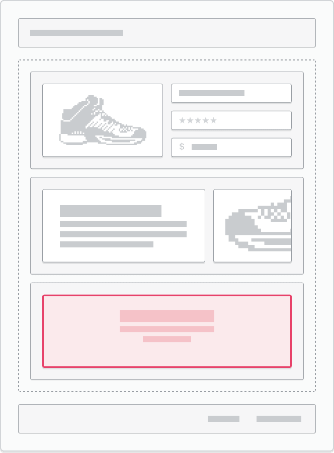 An app block being used as a section in a template.