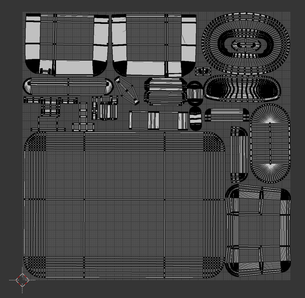 In the UV/Image Editor, make sure that all the UVs are laid out on the grid.