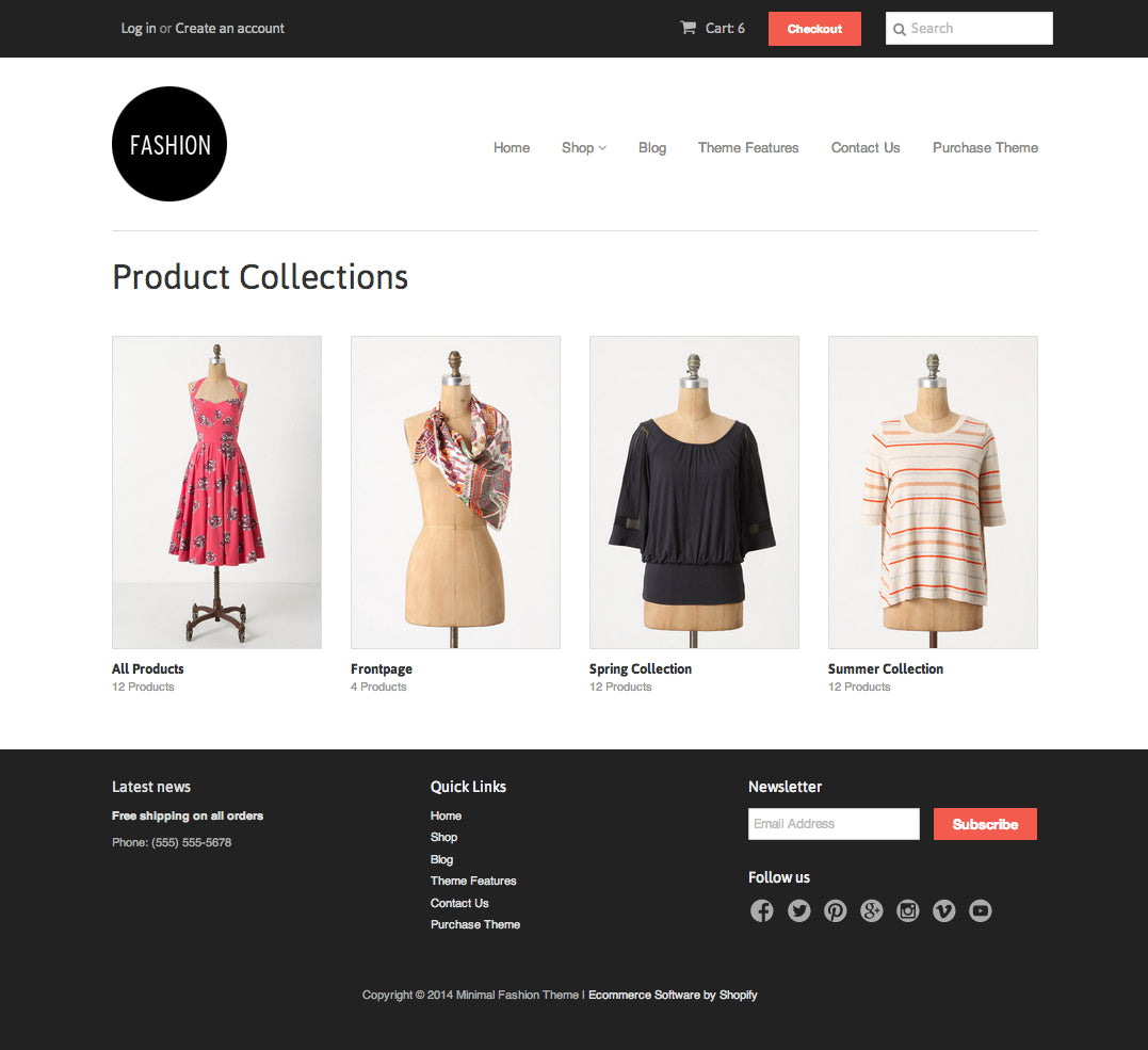 Collection Template Shopify