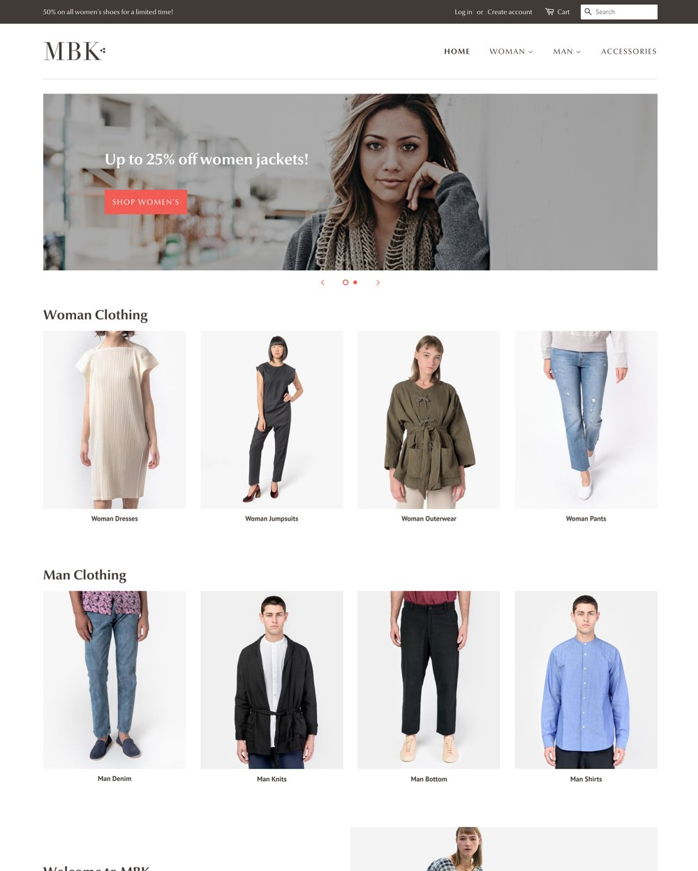 """Desktop preview for Minimal in the """"Fashion"""" style"""