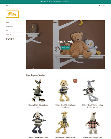 Der Toy-Stil des Themes Simple