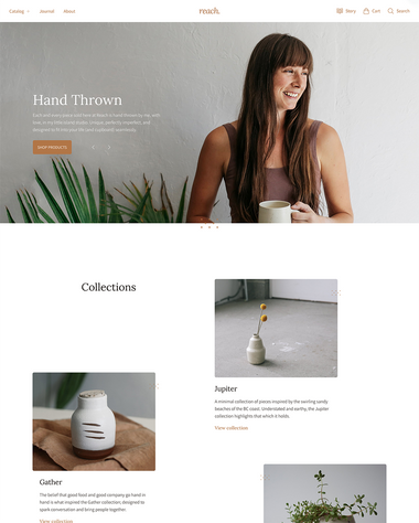 Der Natural-Stil des Themes Reach