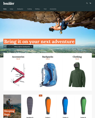 The Outdoors style of the Venture theme