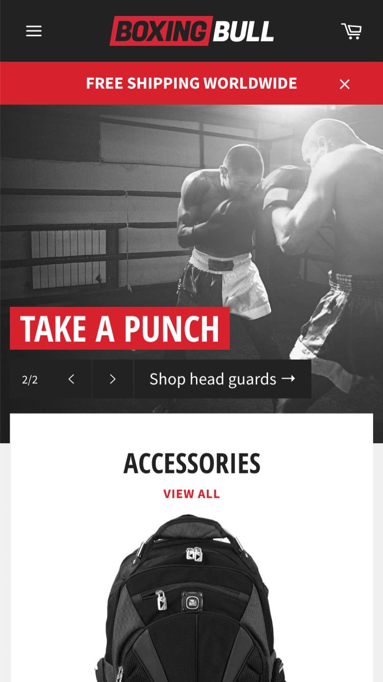 "Mobile preview for Venture in the ""Boxing"" style"