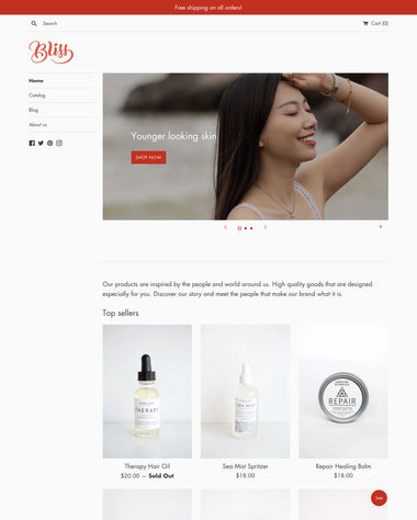 The Beauty style of the Simple theme