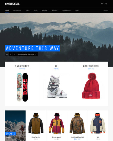 The Snowboards style of the Venture theme
